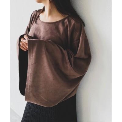 tシャツ Tシャツ フレアスリーブスウェードT