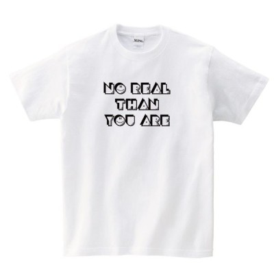 【MISSY MISTER】NO REAL THAH YOUARE Tシャツ