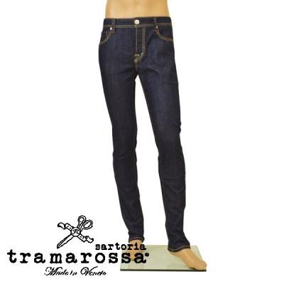 ジーンズ トラマロッサ tramarossa メンズ テーパード センタープレス デニムパンツ etr20s001 LEONARDO D753 1 DAY インディゴ