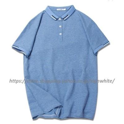 メンズ   半袖Tシャツ  大きいサイズ  ゆったり  レギュラーカラー  カジュアル  人気 新作