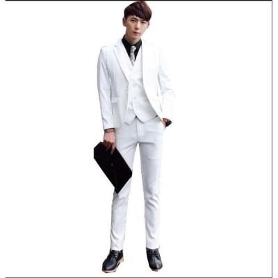 品質良い 一つボタンスーツ 写真撮影 成人式 1ボタンスーツ 3点セット ビジネススーツ スリムスーツ 紳士スーツ 結婚式 パーティー ジャケット