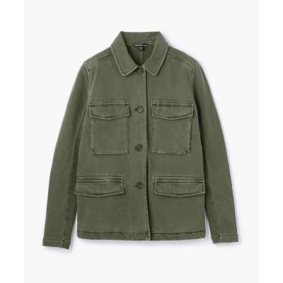 【トゥモローランド】 コットンジャージー サープラスジャケット WDNW2417 レディース 58ダークグリーン系 1(M) TOMORROWLAND