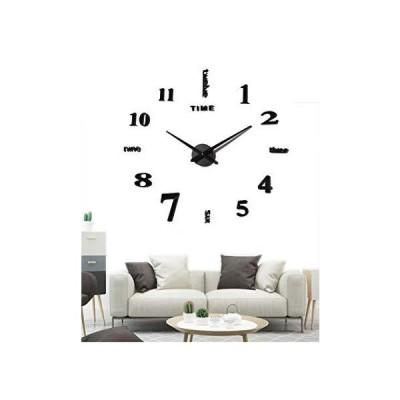 EONPOW Frameless Clock Large 3D DIY Wall Clocks for Living Room Bedroom Off