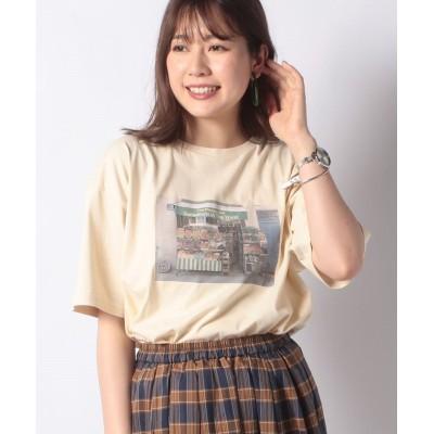 (ehka sopo/エヘカソポ)【ehka sopo】フォトプリントTシャツ/レディース キナリ