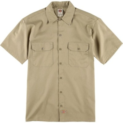 ディッキーズ Dickies 半袖 ワークシャツ メンズM /eaa029954