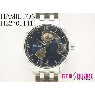 ハミルトン ジャズマスター オープンハート ブルー メンズ 腕時計 オートマ 裏スケ 未使用品 H32705141(質屋出店)
