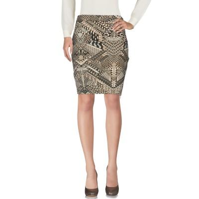 ジャストカヴァリ JUST CAVALLI ひざ丈スカート サンド 42 レーヨン 95% / ポリウレタン 5% ひざ丈スカート
