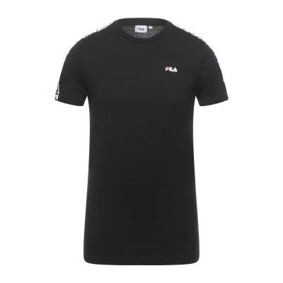 FILA T シャツ ブラック XS コットン 100% T シャツ