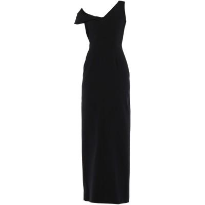 バレンシアガ BALENCIAGA ロングワンピース&ドレス ブラック 38 シルク 94% / ポリウレタン 6% ロングワンピース&ドレス