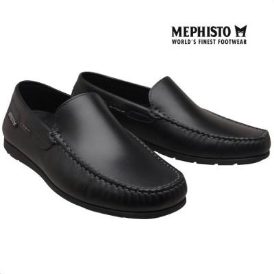 メフィスト 正規品 靴 MEPHISTO ALGORAS BLACK モカシン スリッポン ウォーキングシューズ メンズ 革靴 紳士靴