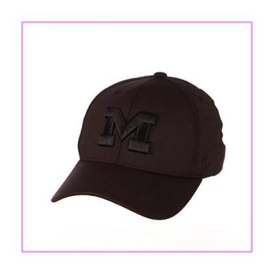 NCAA Zephyr Michigan Wolverines Mens Obsidian Hypercool Black Tonal Hat, Small, Black【並行輸入品】