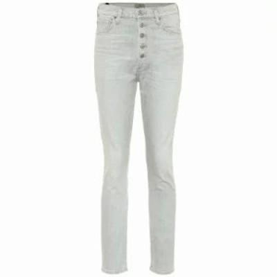 シチズン ジーンズ・デニム Olivia high-rise skinny jeans zinc
