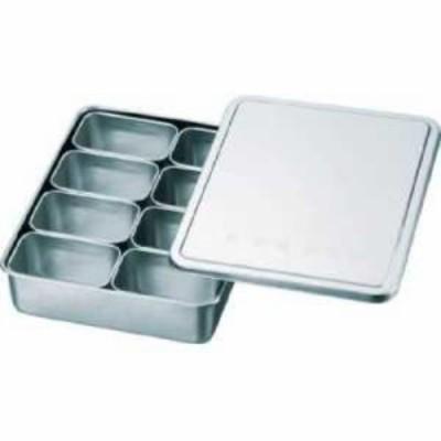 スギコ 18-8検食用容器 田型日付入 8個入 285×221×63