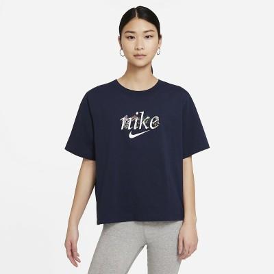 NIKE (ナイキ) ナイキ ウィメンズ NSW ボクシー ネイチャー S/S Tシャツ M NVY レディース DD1457-451
