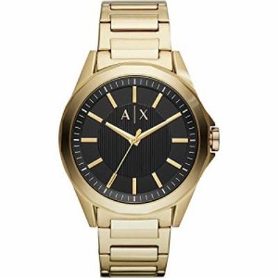 Armani Exchange orologio Drexler acciaio PVD oro giallo uomo solo tempo AX2619