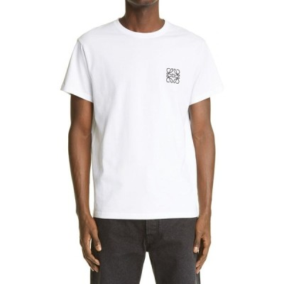 ロエベ LOEWE メンズ Tシャツ トップス Anagram Logo T-Shirt White