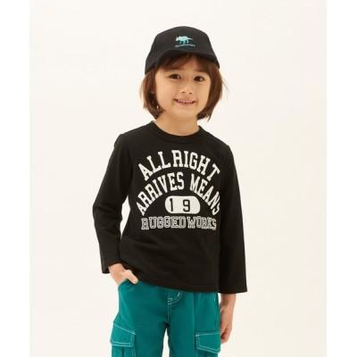 tシャツ Tシャツ 【made in Japan】オーガニックコットンカレッジプリントロングTシャツ
