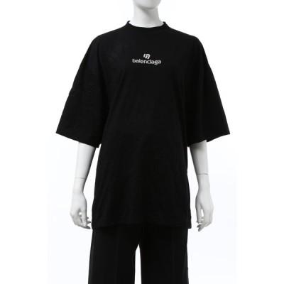 バレンシアガ Tシャツ 半袖 丸首 クルーネック レディース 641532 TJVA9 ブラック 2020年秋冬新作 BALENCIAGA