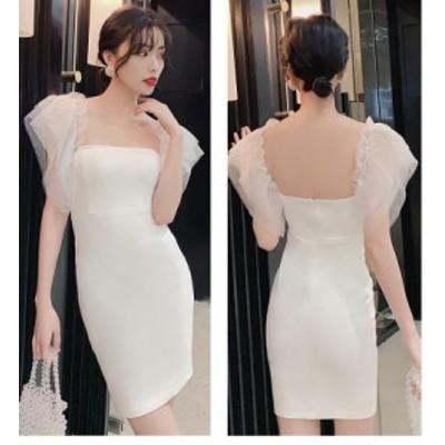 パーティードレス ミニドレス ウエディングドレス 大きいサイズ タイトワンピース フォーマル 上品 大人 ナイトドレス 結婚式ドレス 発表