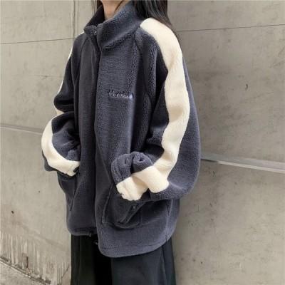 アウター ボア ブルゾン ゆったり ルーズ 暖かい  カジュアル 大人可愛い 韓国ファッション