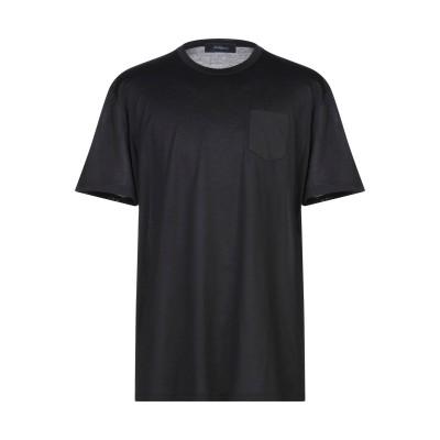 ブルー レ・コパン BLUE LES COPAINS T シャツ ブラック 50 コットン 100% T シャツ