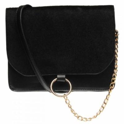USC レディース バッグ pu chain bag Black