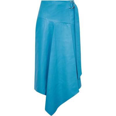ティビ TIBI 7分丈スカート アジュールブルー 6 羊革(ラムスキン) 100% 7分丈スカート