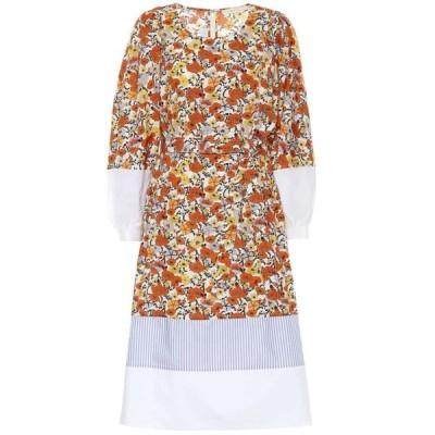 トリー バーチ Tory Burch レディース ワンピース ミドル丈 ワンピース・ドレス Floral cotton midi dress Ivory Blossom Ditdsy