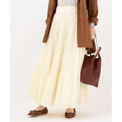 スカート Soi-e:ティアードマキシスカート