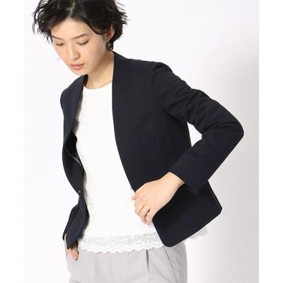 COMME CA ISM / ジャージー ノーカラー ジャケット 日本素材 WOMEN ジャケット/アウター > ノーカラージャケット