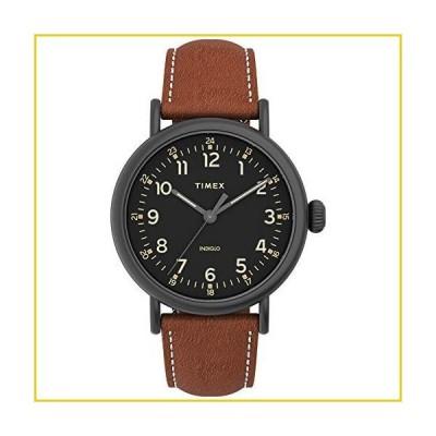 Timex Men's Standard 40mm Quartz Leather Strap, Brown, 20 Casual Watch (Model: TW2U58600VQ)並行輸入品