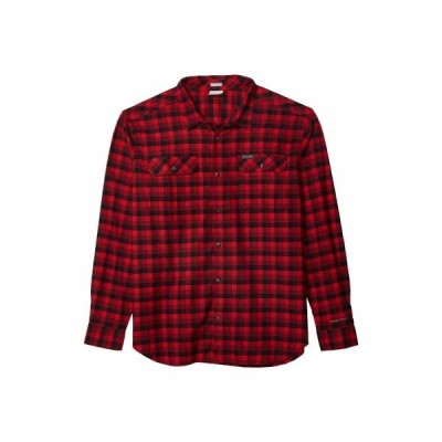コロンビア シャツ トップス メンズ Flare Gun Stretch Flannel Red Jasper Grid Plaid