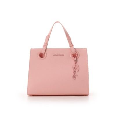 サマンサベガ ロゴベルトスクウェアバッグ(大) ピンク