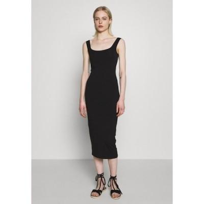 サムスサムス ワンピース レディース トップス SUELLA LONG DRESS  - Jersey dress - black