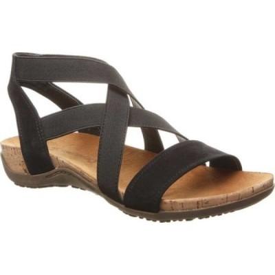 ベアパウ Bearpaw レディース サンダル・ミュール シューズ・靴 Brea Strappy Sandal Black II Faux Leather