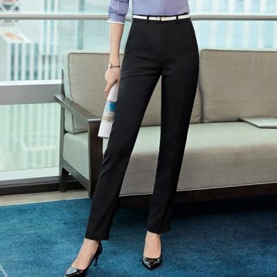 レディースボトムス レディーススラックス ビジネスパンツ フォーマルパンツ テーパードパンツ  2色×2タイプ