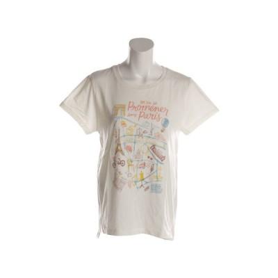 ウィッテム(HUITIEME) 【多少の傷汚れありの為大奉仕】Tシャツ レディース 半袖 プリント PARIS HU18SCD864504WHT (レディース)