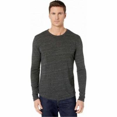 オルタナティヴ Alternative メンズ 長袖Tシャツ トップス Long Sleeve Eco Shirttail Tee Eco Black