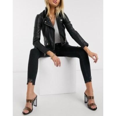 リバーアイランド レディース デニムパンツ ボトムス River Island Molly skinny jeans in washed black Blues