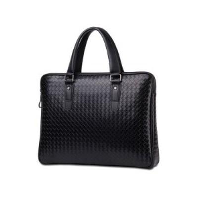 超人気 ビジネスバッグ 大容量 男性用 A4サイズ対応 書類かばん 本革 仕事 通勤 ショルダーバッグ ブラック