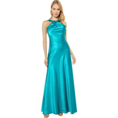 カルバンクライン Calvin Klein レディース パーティードレス ワンピース・ドレス Knot Neck Gown Viridian