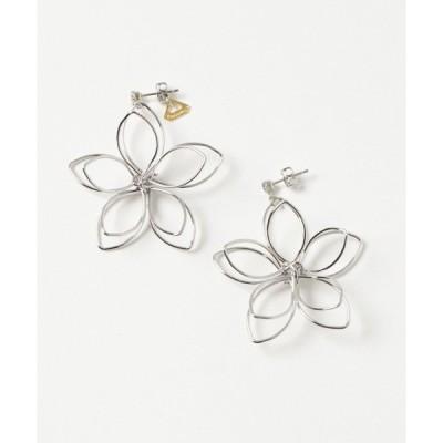 ピアス Youuumu*/BIG flower pierce SV