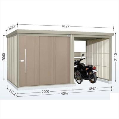 物置 屋外 おしゃれ タクボ物置 TP/ストックマンプラスアルファ TP-40R26 一般型 標準屋根 カーボンブラウン