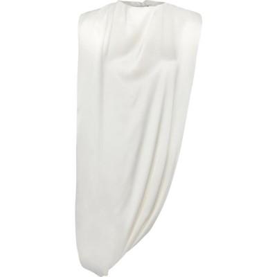 ジバンシー Givenchy レディース ノースリーブ トップス Embellished satin top Off White