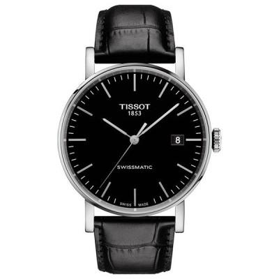 ティソット 腕時計 アクセサリー メンズ Men's Swiss Automatic Everytime Swissmatic Black Leather Strap Watch 40mm No Color