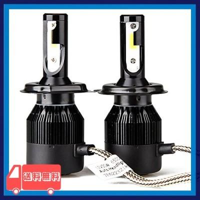 LEDヘッドライト H4 Hi/Lo切り替え 車用 一体式 DC12V-LEDバルブ POOPEE COBチップ 30W 高輝度 両面発光 6500Kホワイト 一年
