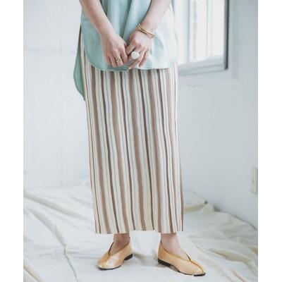 ITEMS URBAN RESEARCH / ストライプニットタイトスカート WOMEN スカート > スカート