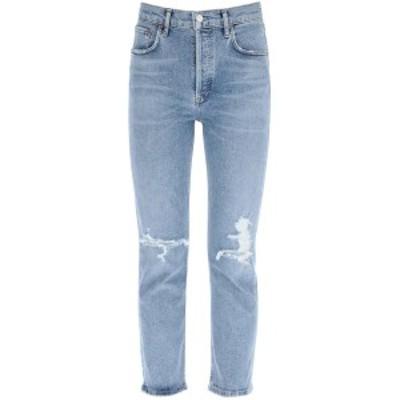 AGOLDE/エーゴールドイー Blue Agolde riley high rise straight jeans レディース 秋冬2020 A056B 1255 ik