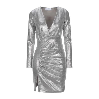 カオス KAOS ミニワンピース&ドレス シルバー S ポリエステル 100% ミニワンピース&ドレス