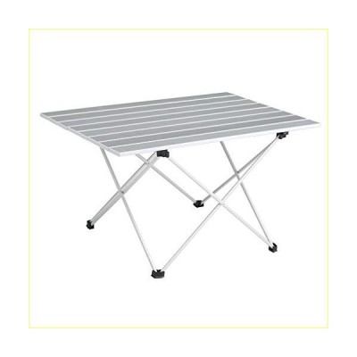 SOVIGOUR Aluminum Folding Camping Table, Portable Compact Roll Up Camp Table, 3 Size Lightweight Picnic Table with Carry Bag for Hiking, BBQ